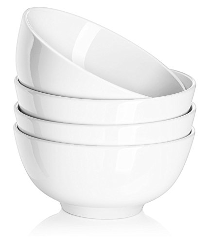 Dowan 10oz Dessert Bowls/Snack Bowl Set, 4.5-inch Salad/Cereal/Soup Bowl for Portion Control, White, Set of 4 (Small Bowl For Oven compare prices)