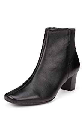 Footglove Block Heel Ankle Boots [T02-8537-S]
