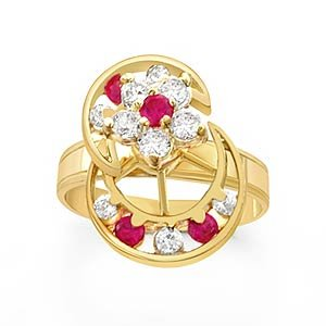 motion rings 14k yellow gold jewelry