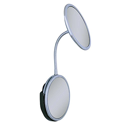 Zadro Triple Vision Gooseneck Vanity And Wall Mount Mirror, Chrome Finish front-650904