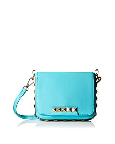 Nila Anthony Women's Pyramid Studded Sling Bag, Turquoise