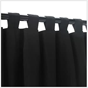 Amazon.com: Outdoor Curtains CUR84BLK 54 in. x 84 in. WeatherSmart ...