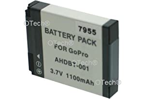 Otech D125SN Batterie pour Appareil Photo Numérique de type GoPro Hero/AHDBT-001 3,7 V