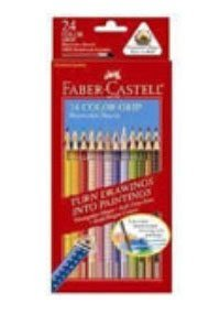 Faber Castell Pencils Grip Triangular Water Color Ecopencils 24 Count 225267 front-948296