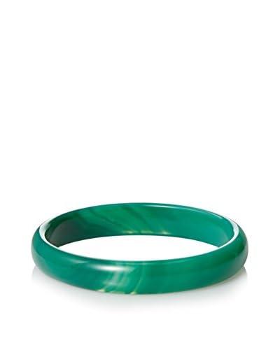Liv Oliver Green Agate Bangle Bracelet