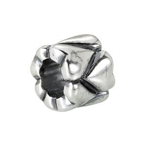 Sterling Silver Heart Accented Bead