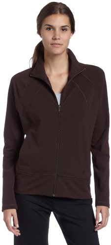 adidas Women's Studio adiShape Jacket, Mustang Brown, Large
