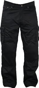German Wear Pantalon de moto en kevlar avec protections 280g/m² Noir Noir Noir 36W34L
