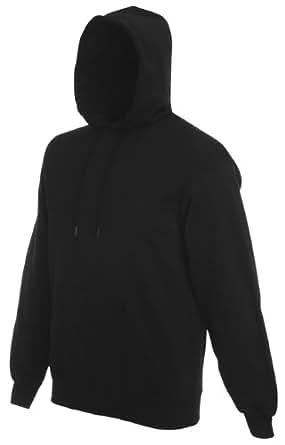 Fruit of the Loom pullover hooded sweatshirt hoodie hoodie Black Medium (38 - 40 inch chest)