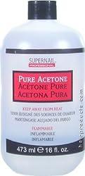 Supernail Pure Acetone Polish Remover 16 Oz. Bottle