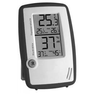 Wetterladen 30.5015.10 station thermomètre-hygromètre contrôle de la pièce blanc/anthracite