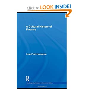 A Cultural History of Finance - Irene Finel-Honigman