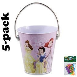 Amazon Com 5 Pack Disney Princess Mini Tin Buckets 4 Quot X4