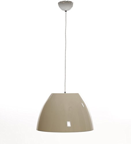 White Glass Dome Hanging Light