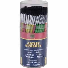 Merit Pro® Pony Hair Brush Cylinder W/ 144 Artist Brushes. Package of 6