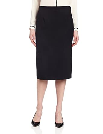 Pendleton Women's Lana Skirt,Black Worsted,4
