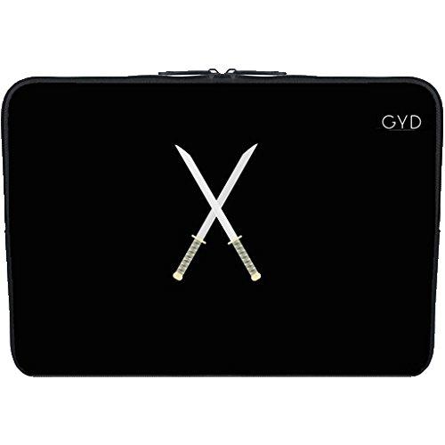 "Coperchio Neoprene Laptop Netbook PC 10.1 ""pollici - Spade Samurai by ilovecotton"