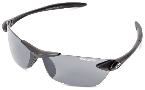 Tifosi Seek 0180400170 Wrap Sunglasses,Matte Black Frame/Smoke Lens,One Size