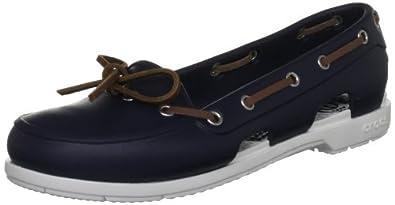 Crocs Women's Beach Line Blue (Navy/White) Boat Shoes 14261-462-413 3 UK