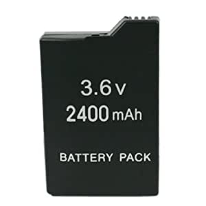 EXTENDED 3.6V 2400mAh Li-ion Slim Rechargeable BATTERY PACK For SONY PSP Slim 2000/3000 (Not Compatible with PSP 1000 Fat)