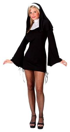 FunWorld Women's Naughty Nun, Black, S/M 2-8 Costume