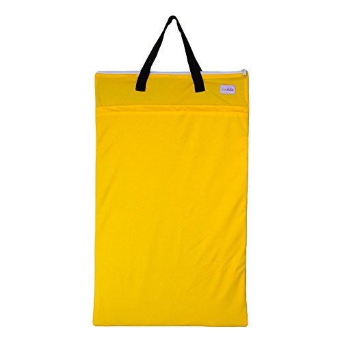 Large Hanging Wet Dry Bag for Baby Cloth Diapers or Laundry (Yellow) (Lil Joeys Aplix compare prices)