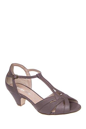 Nina-2 Low Heel T-Strap Sandal