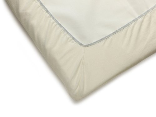 BABYBJORN Travel Crib Light Fitted Sheet, Natural White