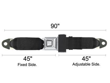 2 Point Seat Belt, Starburst, 90 Inch, Flame Red front-305006