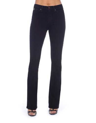Second Yoga Jeans Women's Highrise Bootcut In Overdyed Black 26