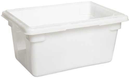 Rubbermaid Commercial Fg350400Wht Food/Tote Box, 5-Gallon, White front-543620