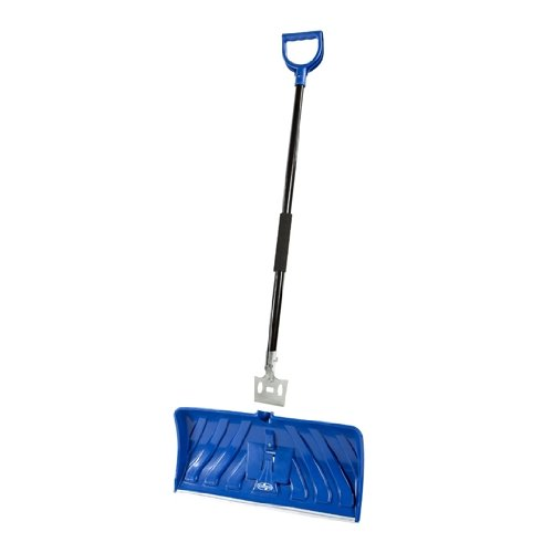 Snow Joe Edge SJEG24 2-In-1 24-Inch Poly Blade Snow Pusher and Ice Chopper, Blue (Chopper Wear compare prices)