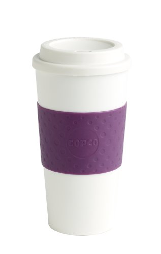 Copco 16-Ounce Capacity Acadia Reusable To Go Mug, Plum