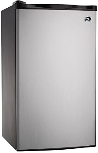 RCA - IGLOO 3.2 CU FT Platinum Fridge (Stainless Steel Bar Fridge compare prices)