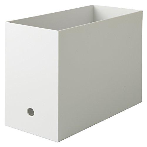 無印良品 【まとめ買い】ポリプロピレンファイルボックス・スタンダード・ワイド・A4ホワイト 6個セット 日本製