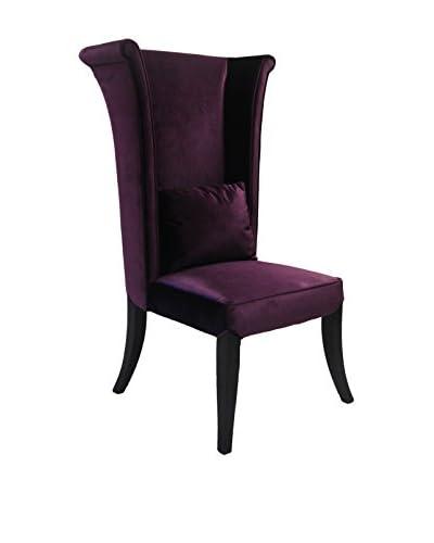 Armen Living Mad Hatter Dining Chair, Purple Velvet