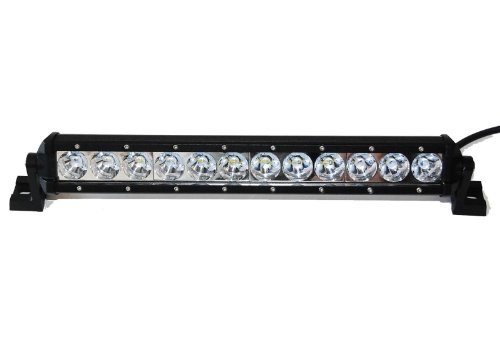 """Wicked Racing 12"""" 60W Slim Line Led Light Bar Single Row Series Off Road Led Driving Work Light Bar -3W Led Lumen Great For Jeep Cabin/Boat/Suv/Truck/Car/Atv"""