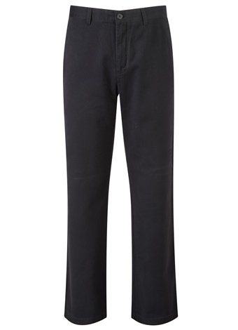 Austin Reed Wrinkle Free Black Flat-Front Trousers LONG MENS 34