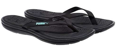Puma Women's Lux Sport Flip Flops Black / Green Size 8 M US