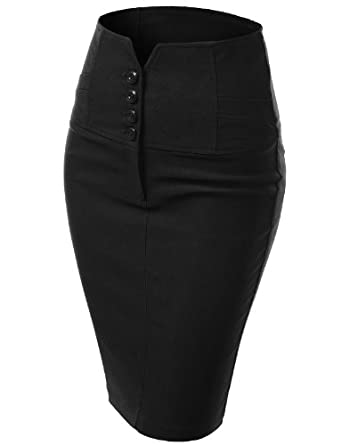 Pencil Skirt at Amazon Women's Clothing store: Faldas De Mujer