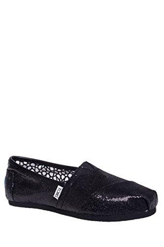Women's Classic Glitter Canvas Slip On Shoe