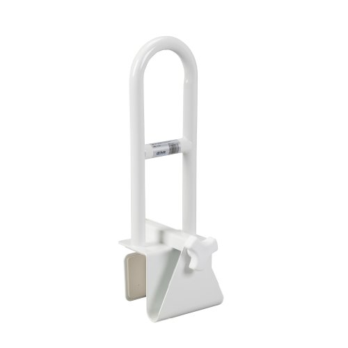 Drive Medical Steel Clamp on Tub Rail, White (Steel Clamp compare prices)