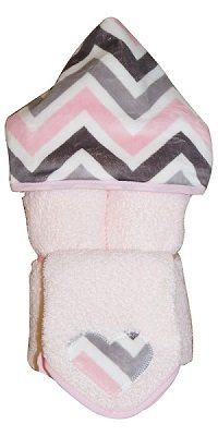 Tickle Toes - Chevron Mary Hooded Towel on Pink