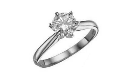 Moissanite 18ct White Gold 0.66 Carat Solitaire Ring - Zoe Kay Jewellery