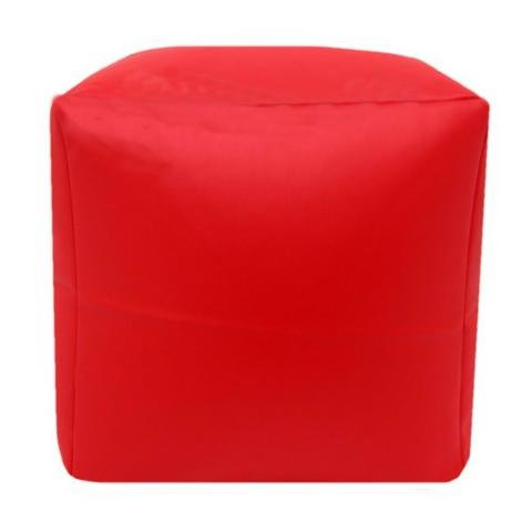 Faux Leather Cube Shaped Pouffe Seat Footrest Small