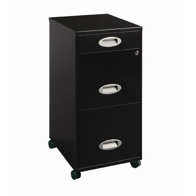 3-Drawer Organizer Mobile File Cabinet