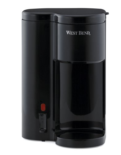 West Bend 56202 Single Cup Coffee and Water Dispenser, Black