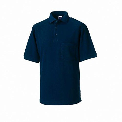Russell Workwear - Polo 100% Cotone - Uomo (4XL) (Blu scuro)