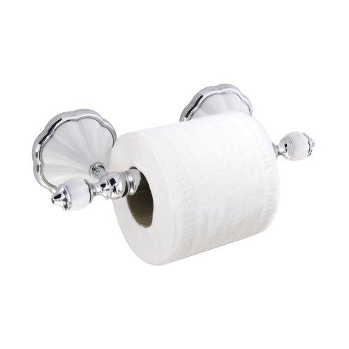 Toilet Tissue Paper Roll Holder White Porcelain Bathroom