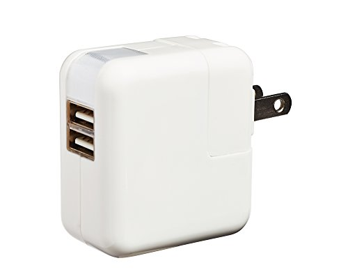 Bl Brand © Dual Port Usb Wall Chargers Two Socket Apple Iphone, Ipad, Ipod - 100% Money Back Guarantee - 2.1 Amp 10W Mains -Universal Travel Mobile Ac Power Adaptors -2 Cell Home Charging Device Hub - Double Station Outlets
